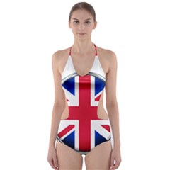 United Kingdom Country Nation Flag Cut Out One Piece Swimsuit