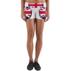 United Kingdom Country Nation Flag Yoga Shorts