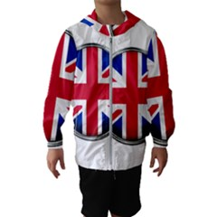 United Kingdom Country Nation Flag Hooded Wind Breaker (kids)