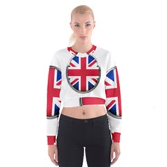 United Kingdom Country Nation Flag Cropped Sweatshirt