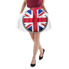 United Kingdom Country Nation Flag A Line Pocket Skirt