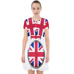 United Kingdom Country Nation Flag Adorable In Chiffon Dress