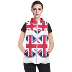 United Kingdom Country Nation Flag Women s Puffer Vest