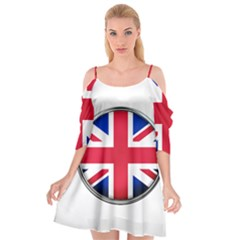 United Kingdom Country Nation Flag Cutout Spaghetti Strap Chiffon Dress