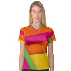 Background Abstract V Neck Sport Mesh Tee