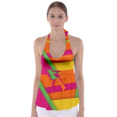 Background Abstract Babydoll Tankini Top