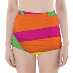 Background Abstract High Waisted Bikini Bottoms