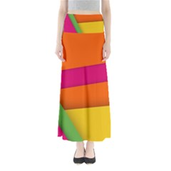 Background Abstract Full Length Maxi Skirt