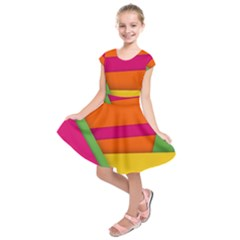 Background Abstract Kids  Short Sleeve Dress