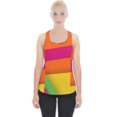 Background Abstract Piece Up Tank Top