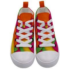 Background Abstract Kid s Mid Top Canvas Sneakers