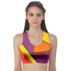 Background Abstract Sports Bra