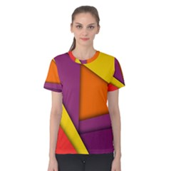 Background Abstract Women s Cotton Tee