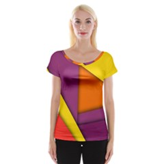 Background Abstract Cap Sleeve Tops