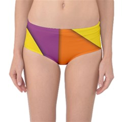 Background Abstract Mid Waist Bikini Bottoms