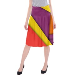 Background Abstract Midi Beach Skirt