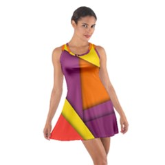 Background Abstract Cotton Racerback Dress