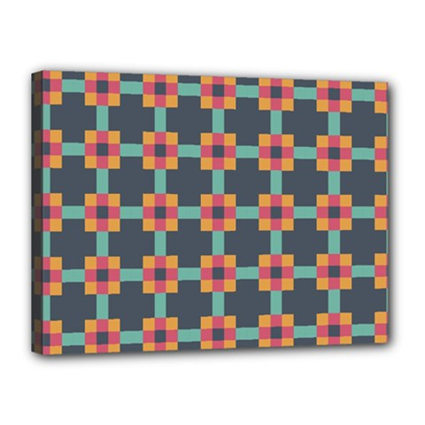 Squares Geometric Abstract Background Canvas 16  X 12