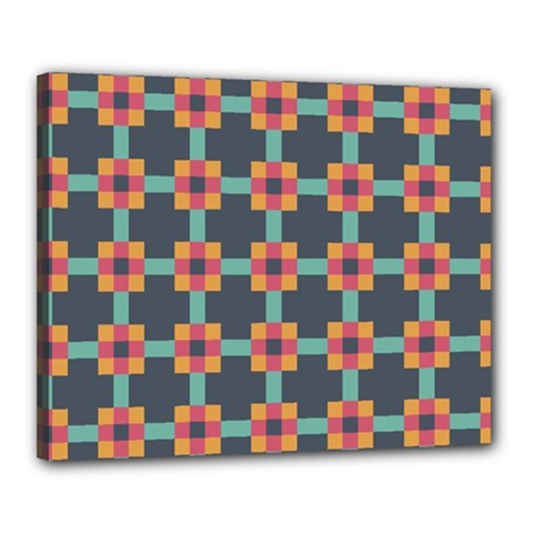 Squares Geometric Abstract Background Canvas 20  X 16