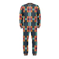 Squares Geometric Abstract Background Onepiece Jumpsuit (kids)