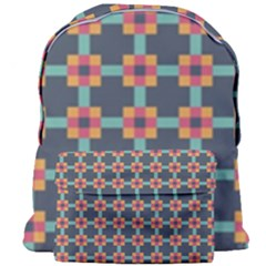 Squares Geometric Abstract Background Giant Full Print Backpack