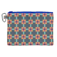 Squares Geometric Abstract Background Canvas Cosmetic Bag (xl) by Nexatart