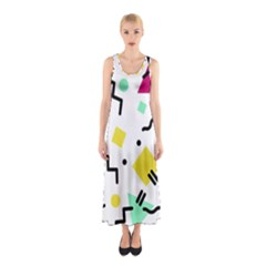 Art Background Abstract Unique Sleeveless Maxi Dress