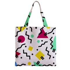 Art Background Abstract Unique Zipper Grocery Tote Bag