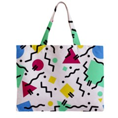 Art Background Abstract Unique Zipper Mini Tote Bag