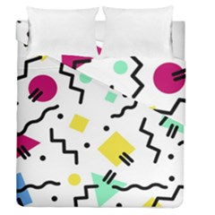 Art Background Abstract Unique Duvet Cover Double Side (queen Size)