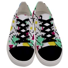 Art Background Abstract Unique Men s Low Top Canvas Sneakers