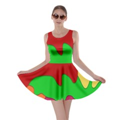 Liquid Forms Water Background Skater Dress