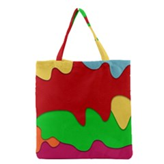 Liquid Forms Water Background Grocery Tote Bag