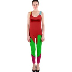 Liquid Forms Water Background One Piece Catsuit