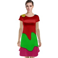 Liquid Forms Water Background Cap Sleeve Nightdress