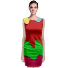 Liquid Forms Water Background Classic Sleeveless Midi Dress