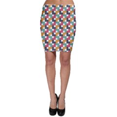Background Abstract Geometric Bodycon Skirt