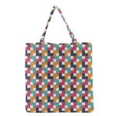 Background Abstract Geometric Grocery Tote Bag