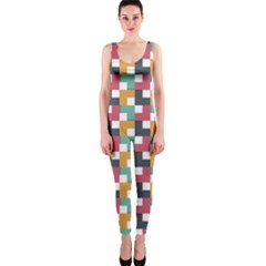 Background Abstract Geometric One Piece Catsuit