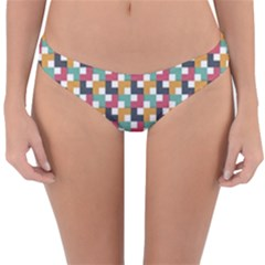 Background Abstract Geometric Reversible Hipster Bikini Bottoms