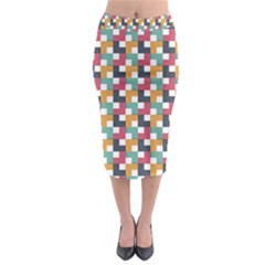 Background Abstract Geometric Midi Pencil Skirt
