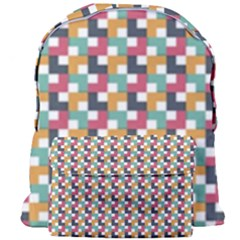 Background Abstract Geometric Giant Full Print Backpack