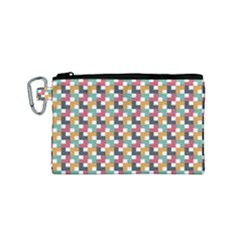 Background Abstract Geometric Canvas Cosmetic Bag (small)
