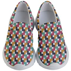 Background Abstract Geometric Kid s Lightweight Slip Ons