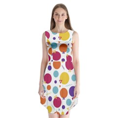 Background Polka Dot Sleeveless Chiffon Dress