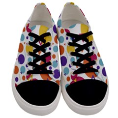 Background Polka Dot Men s Low Top Canvas Sneakers