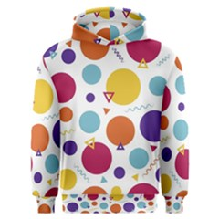 Background Polka Dot Men s Overhead Hoodie
