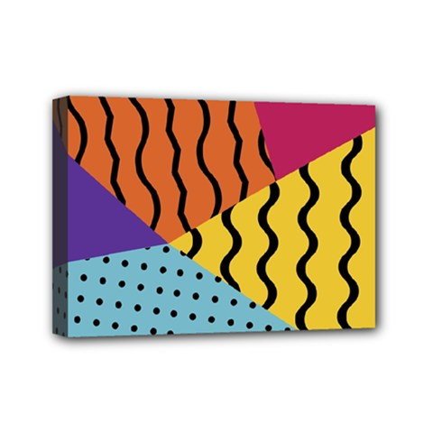 Background Abstract Memphis Mini Canvas 7  X 5