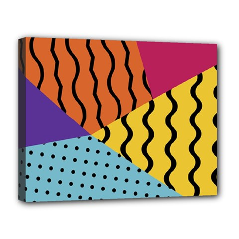 Background Abstract Memphis Canvas 14  X 11