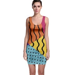 Background Abstract Memphis Bodycon Dress